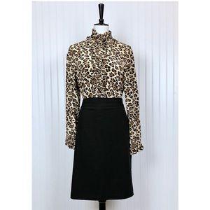 Worthington Classic Black Lined Pencil Skirt, 18